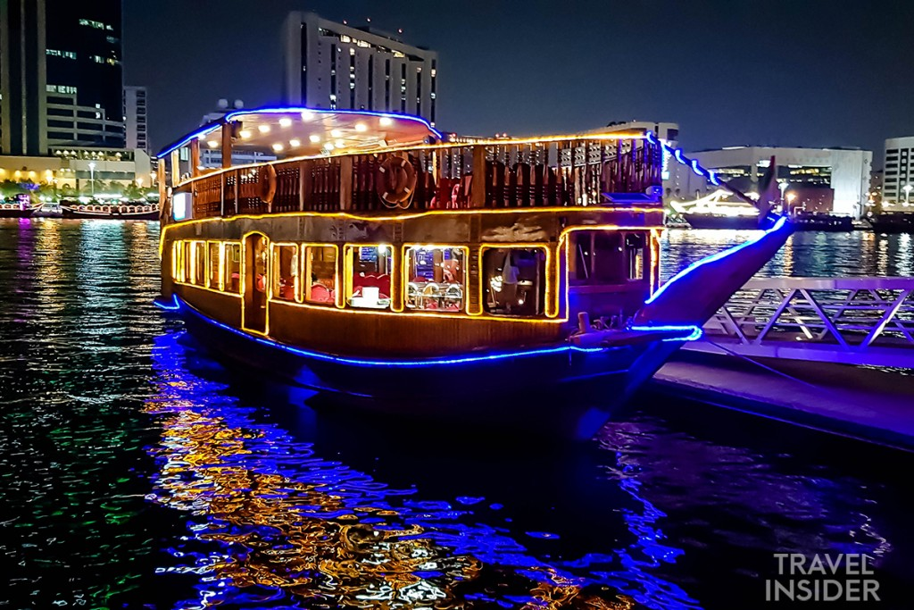 Dinner on a Traditional Boat in Dubai Creek